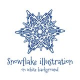 Snowflake icon Royalty Free Stock Photography