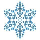 Snowflake Icon on white background. Vector illustration Royalty Free Stock Photo