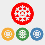 Snowflake icon. On the white background. Vector illustration Royalty Free Stock Image