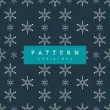 Seamless pattern Christmas white Snowflakes On Dark Blue stock illustration