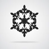 Snowflake icon on white Stock Photography