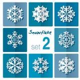 Snowflake icon. Winter theme. Winter snowflakes of different shapes. Royalty Free Stock Photos