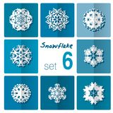 Snowflake icon. Winter theme. Winter snowflakes of different shapes. Stock Photography