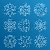 Snowflake icon. Winter theme. Winter snowflakes of different shapes. Stock Photo