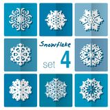 Snowflake icon. Winter theme. Winter snowflakes of different shapes. Stock Image