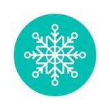 snowflake Icona ed illustrazione piane di Natale su fondo bianco Simbolo di festa illustrazione di stock
