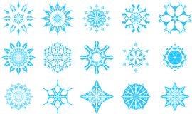 Snowflake icons. Perfect for Christmas decorations. Resizable to any size Royalty Free Stock Photo