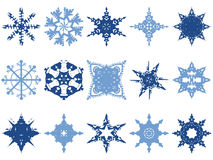 Snowflake Icons. A collection of snowflakes ready for any Christmas decorations.  Also available in vector format Royalty Free Stock Image