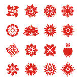 Snowflake icons. Authors illustration in vector Stock Image