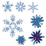 Snowflake icons Stock Photography