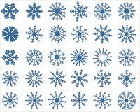 Snowflake icons Stock Photo