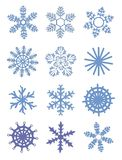 Snowflake icons Stock Images