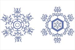 Snowflake icons Royalty Free Stock Photography