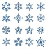 Snowflake icons Royalty Free Stock Photos