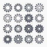 Snowflake icons. Christmas and New year symbol Royalty Free Stock Images
