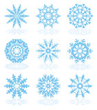 Vector snowflake icons Royalty Free Stock Image