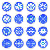 Snowflake icons set Stock Image