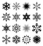 Snowflake icons set Stock Photos