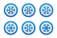 Snowflake icons set Stock Photography