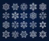 Snowflake Icons Set Royalty Free Stock Images