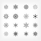 Snowflake icons Stock Photos