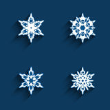 Snowflake icons set Stock Images