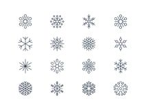 Snowflake icons 3 Stock Photos