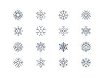 Snowflake icons 5 Royalty Free Stock Image