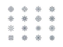 Snowflake icons 4 Stock Photography