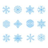 Snowflake icons set, vector illustration Stock Photography