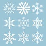 Snowflake icons Stock Photo