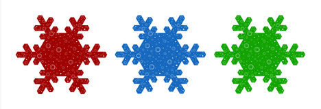 Snowflake Illustration Stock Photo