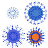 Snowflake. Illustration with four blue snowflakes Stock Images