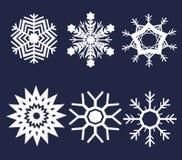 Snowflake illustration set Royalty Free Stock Image