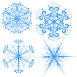 Snowflake illustrations Stock Images