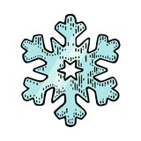 snowflake Illustrazione d'annata dell'incisione di colore di vettore royalty illustrazione gratis