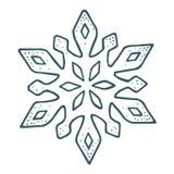 snowflake Illustrazione d'annata dell'incisione di colore di vettore illustrazione vettoriale