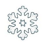 snowflake Illustrazione d'annata dell'incisione di colore di vettore illustrazione di stock
