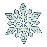 snowflake Illustrazione d'annata dell'incisione di colore di vettore Isolato su bianco illustrazione di stock