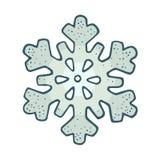 snowflake Illustrazione d'annata dell'incisione di colore di vettore Isolato su bianco royalty illustrazione gratis