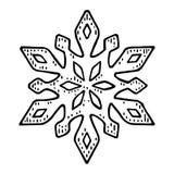 snowflake Illustrazione nera d'annata dell'incisione di vettore royalty illustrazione gratis