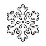 snowflake Illustrazione nera d'annata dell'incisione di vettore illustrazione di stock