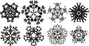 Snowflake. Isolated vector illustration of several versions of a design element eps 10 Stock Photo