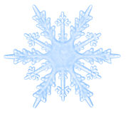 Snowflake isolated on a white background. Beautiful blue snowflake isolated on a white background. Element for design stock photography