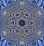 Snowflake kaleidoscope Stock Images