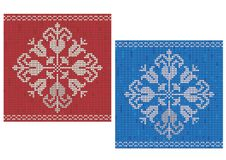 Snowflake knitted pattern Stock Photo