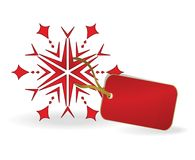 Snowflake with a label. eps10 Stock Photography