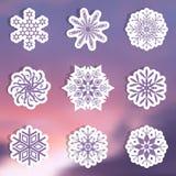 Snowflake labels Stock Photos