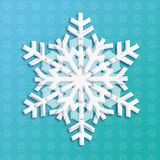 SNOWFLAKE 2018. 2018 Snowflake icon. Snowfall Light Blue background. Snowflake symbol. Snowflake label. Snowflake winter banner. Snowflake flayer. Paper cut Royalty Free Stock Images
