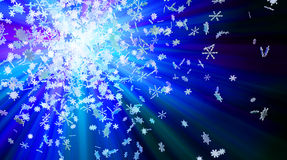 Snowflake Lights Royalty Free Stock Photography